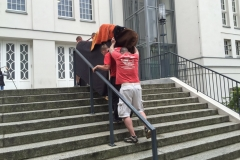 Stadthalle Greifswald Flügel erste Treppe 2